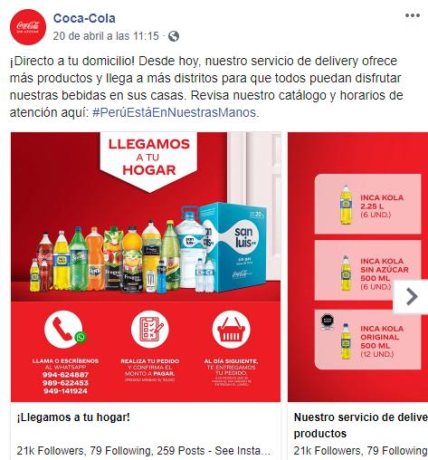 Pandemia de reparto de Coca-Cola